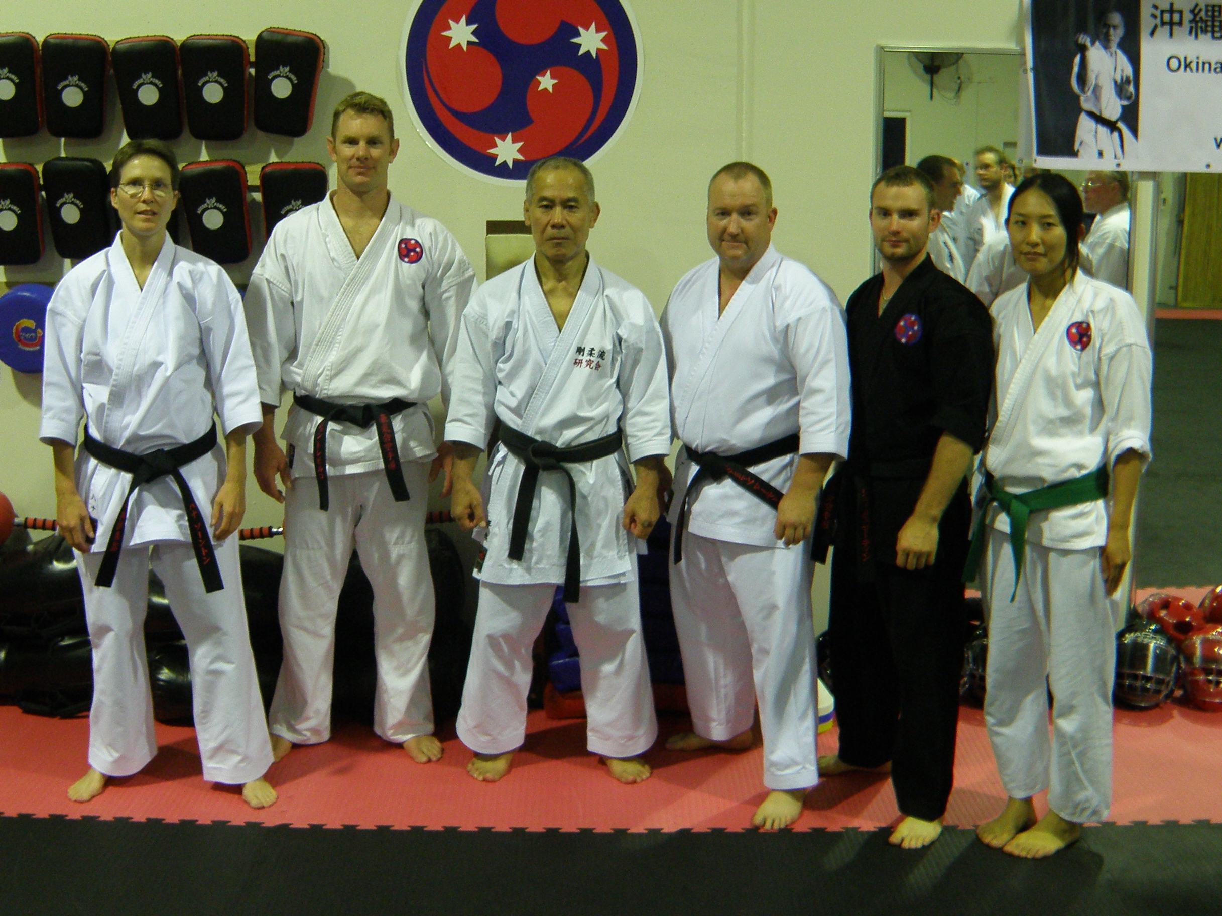Gold Coast Black belts with Taira Sensei 2013