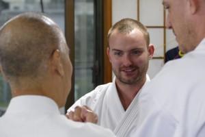 Training with Taira sensei in 2015