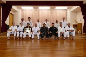 Post training at the Kubagawa Dojo of the Kinjo family and the Ryukyu Kobudo Hozonkai in 2015